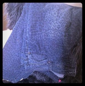 Dark wash, size 22 Torrid leopard print jeans